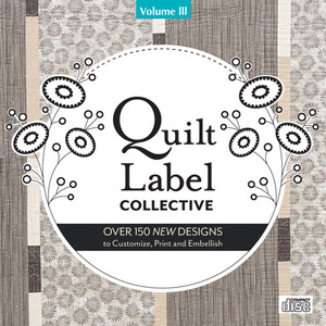 Quilt, Label, Collective, CD, Volume, 3, 150, designs, Lesley, Riley, Transfer, Artist, Paper
