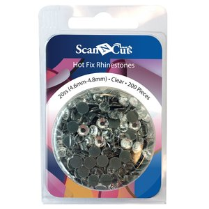 Brother ScanNCut CARSC20C Clear Rhinestones 20SS Refill Pack 200 Pieces (4.6 mm - 4.8 mm)