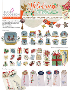 Anita Goodesign PRPL07 Holiday Extravaganza Premium Plus Collection, 184 Designs, 16 Types, 14 Videos