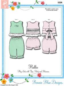 Bonnie Blue BBDP123B Hallie Tops Panty Bloomer Sewing Pattern Sz 3-6Yr