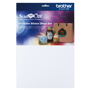 "Brother CAPSS1 Printable Sticker 7 Sheets 8.3"" x 11.7 for ScanNCut CM650W, CM550, CM350, CM250, CM100"