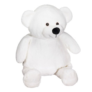 Embroider, Cubbie, Buddies, CC91097, White, Mister, Buddy, Bear, Blank, 16, inch, Embroidery