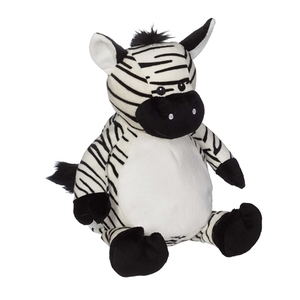 "Embroider Buddy CC81097 Zachary Zebra 16"" inch Embroidery Blank"