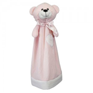 "Embroider Cubbie Buddies Blankey Buddy Bear, Pink 20"" Embroidery Blank"