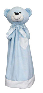 "Embroider Buddy EB61098BL Blankey Buddy Bear, Blue 20"" Embroidery Blank"
