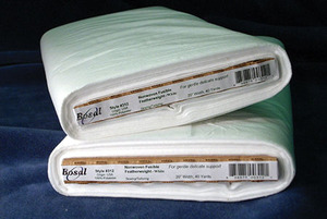 "New, In Stock Bosal BOS313 White NonWoven Fusible Featherweight 100 polyester 20""x40Yds"