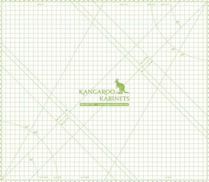 "Kangaroo Kabinets MAT-D by Arrow  ""Dingo"" by Horn of Australia Clear 46""x40"" Cutting Mat"