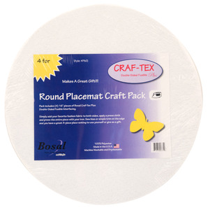 "Bosal Craf-Tex Placemat Craft Pack - 4 pack 16"" Roundnohtin"