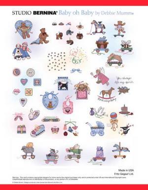 Bernina Artista 545 Debbie Mumm's Baby oh Baby Embroidery Card