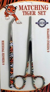 ToolTron TT00859 Tiger Design Tweezers and Scissors Set