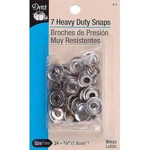 Heavy Duty Snaps Fasteners by Dritz 5/8 in. Nickel 7 pc.