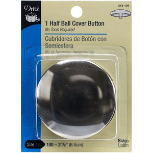 "Dritz 213-100 Half Ball Cover Button - Size 100 - 2-1/2"" - 1 Ct."