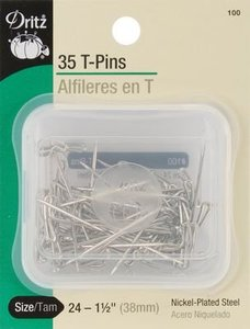 Dritz 35-Piece T Pins, 1-1/2-Inch (38mm)nohtin