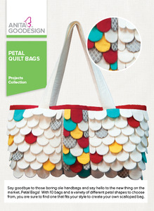 Anita Goodesign PROJ104 Petal Quilt Bags Project Designs Collection CD