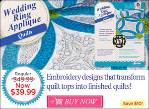 DIME, designs, in, machine, embroidery, SHQWR1, Wedding, Ring, Applique, Quilts, weekly, special, quilting, applique