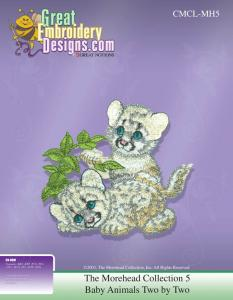 Great Notions 111557 MH5 The Morehead Collection 5 Baby Animals Two by Two Multi-Formatted CD Embroidery Designs
