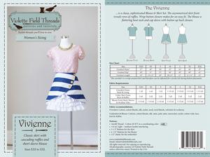 Violette Field Threads VFT027VM Vivienne Women Skirt & Blouse Sewing Patttern Sizes XXS-XXL