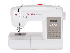Singer 6180 80 Stitch Brilliance Computer Sewing Machine, Start Stop, Needle Up Down,  6x1-Step Buttonholes, Needle Threader, Heavy Duty Metal Frame