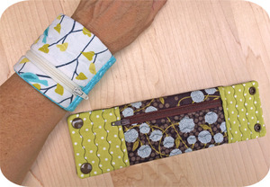 Embroidery, Garden, Wrist, Wallet, Set, zipper, quilting, lined, snaps