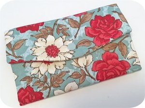 Embroidery, Garden, TriFold, Wallet, 8x12, accessory, phone, checkbook, zipper