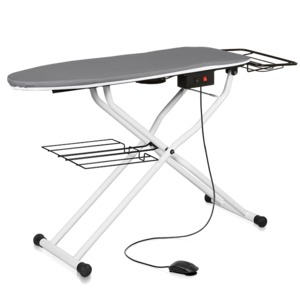 "Reliable 500VB (Replaces C81, C88) Heated Vacuum and Up Air Ironing Board Pressing Table 49x16"" plus Hot Iron Rest, Catch Tray, Made in Italy"