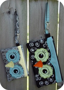 Embroidery Garden - Owl Wristlets and Purses Set Embroidery Designs on CD
