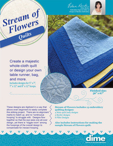 Stream of Flowers Quilts, 13 Embroidery Quilting Designs, SKU SHQSS1