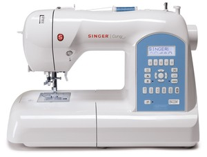Singer, Curvy, 8780, factory, serviced, computer, sewing, sew, quilting, quilt, bonus, feet, drop, 225, built, in, stitches, 1, step, button, holes, lcd, screen, needle, up, down, auto, tension, free, arm