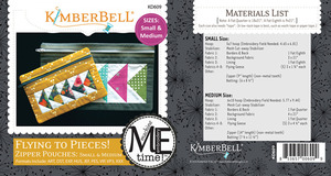 Kimberbell KD609 MeTime CD Flying to Pieces Zipper Pouch Small, Medium Sizes