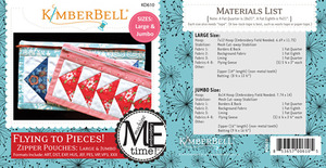 Kimberbell KD610, MeTime CD: Flying to Pieces Zipper Pouch Large and Jumbo Sizes