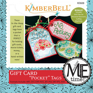 Kimberbell KD608 MeTime CD: Gift Card Pocket Tags Embroidery Design