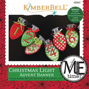 Kimberbell KD607 MeTime CD: Christmas Light Advent Banner Embroidery Design