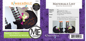 Kimberbell, KD601, Me, Time, CD, Sweet, Feet, Whimsical, Witch