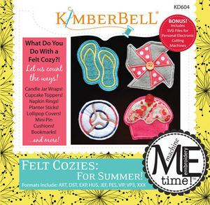 Kimberbell KD604 MeTime CD: Felt Cozies for Summer