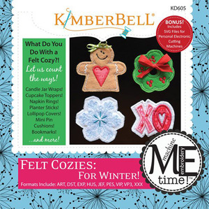 Kimberbell KD605 MeTime CD: Felt Cozies for Winter