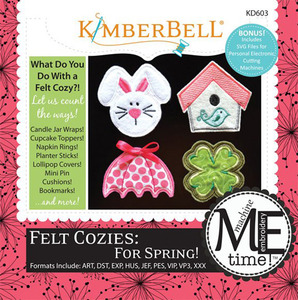 Kimberbell, KD603, Me, Time, CD, Felt, Cozies, for, Spring