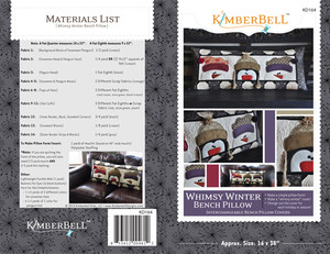 Kimberbell, KD164, Whimsy, Winter, Bench, Pillow, Sewing, Project