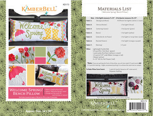 "Kimberbell KD173 ""Welcome Spring"" Bench Pillow Sewing Project Pattern"