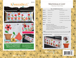 "Kimberbell KD174 ""May Flowers"" Bench Pillow Sewing Project Pattern"