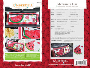 Kimberbell, KD175, Slice, of, Summer, Watermelon, Bench, Pillow, Sewing, Project