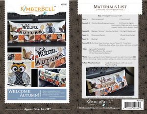 Kimberbell, KD183, Welcome, Autumn, Bench, Pillow, Sewing, Project