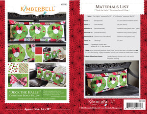 Kimberbell, KD182, Deck, the, Halls, Bench, Pillow, Sewing, Project