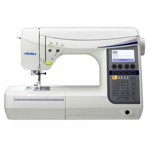 Juki HZL-DX5 185 Stitch Computer Sewing Machine, 3 Fonts, 16 Buttonholes, Auto Threader/Trimmer, Start Stop, Needle Up Down, Drop Feed, Case, 9 Feet