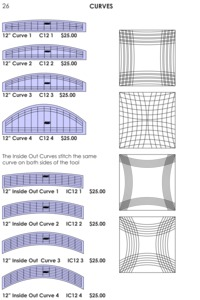 65613: Westalee CURVES Curved Arc Ruler Templates, Size Options C6, IOC6, C12, IOC12