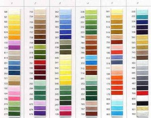 Robison Anton 122SBP-9 450 Color Card Chart, Super Brite Polyester Embroidery Real Thread Samples, RA is Made in USA by A&E