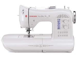 Singer, One, Electronic, Sewing, Machine, Factory, Serviced, auto, button, hole, needle, threader, presser, foot, sensor, led, lights, 24, built, in, stitches
