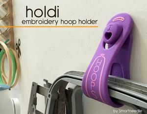 Smart Needle SNHOLDILAV Holdi Hoop Holder, Holds up to 4, Lavender