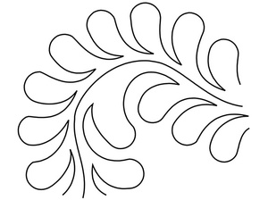 Handi, Quilter, HG00312, Feather, Corner, Handi Quilter HG00312 Feather Corner Groovy Board Template
