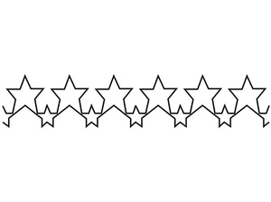 Handi, Quilter, HG00106, Stars, 6, Handi Quilter HG00106 Stars 6 Groovy Board Template