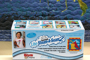 """Lite Steam-A-Seam 2, WP5440 12"""" Wide Pressure Adhesive Applique Binding by the Yard"""